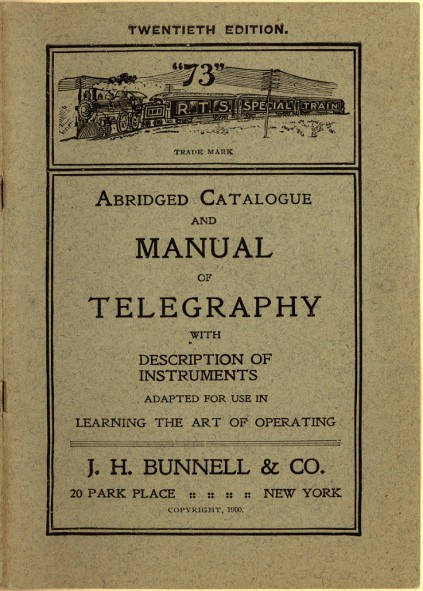 Abridged Catalogue and Manual of Telegraphy