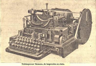 Tercera etapa: Teleimpresores. Siemens 37