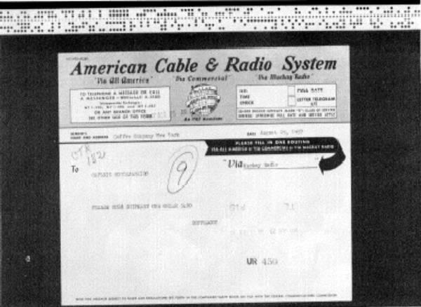 Telegrama y cinta perforada