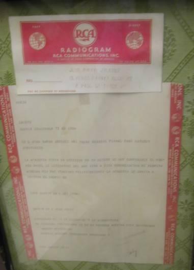 Telegrama de comunicación a Juan Ramón Jiménez de la concesión del Premio Nobel (RCA)