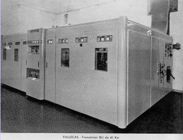 Transmisor de banda lateral independiente. Estación de Vallecas (Madrid)