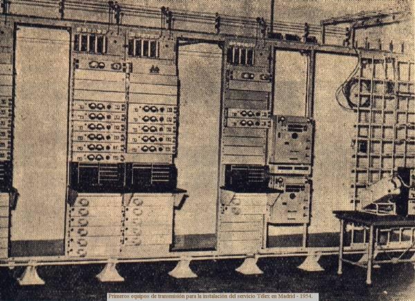 Télex. Equipos de transmisión
