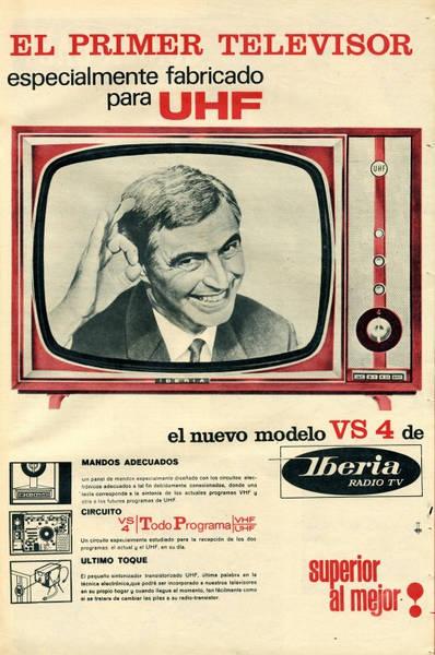 Anuncio del primer televisor para UHF (semanario madrileño
