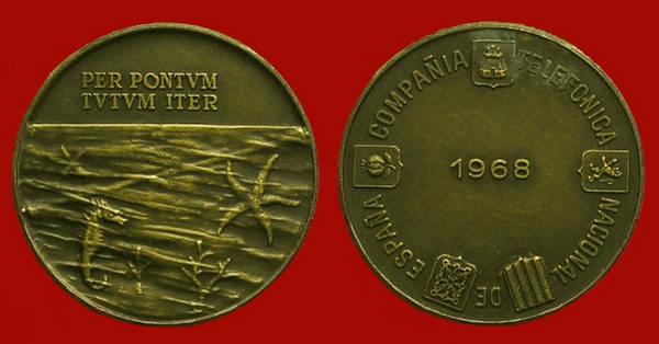 Medalla de la Junta de Accionistas de Telefónica del año 1968