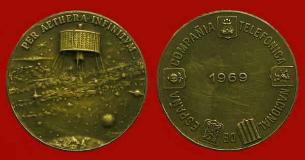 Medalla de la Junta de Accionistas de Telefónica del año 1969