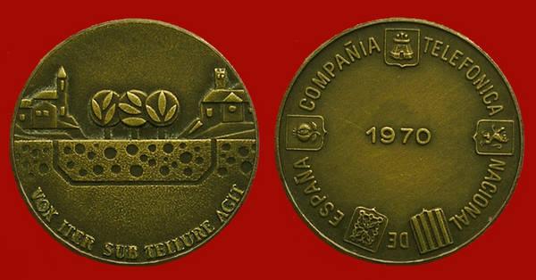 Medalla de la Junta de Accionistas de Telefónica del año 1970