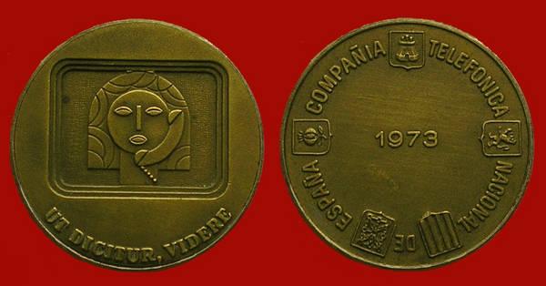 Medalla de la Junta de Accionistas de Telefónica del año 1973