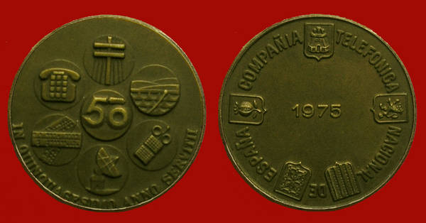 Medalla de la Junta de Accionistas de Telefónica del año 1975