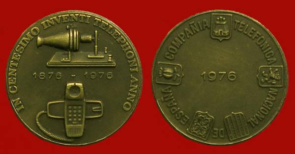Medalla de la Junta de Accionistas de Telefónica del año 1976