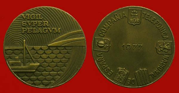 Medalla de la Junta de Accionistas de Telefónica del año 1977