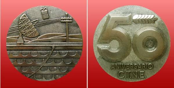 Medallas conmemorativas: 50 aniversario de la creación de la Compañía Telefónica Nacional de España