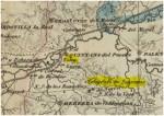 Fragmento del mapa de Coello de Palencia de 1852. Fuente: Institut Cartogràfic i Geològic de Catalunya.