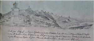 Vista realizada en 1850 por los miembros de la comisión del Mapa Geológico
