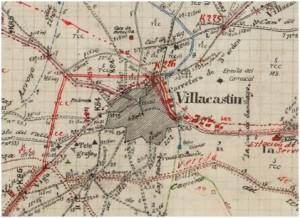 Detalle de minuta de Villacastín de 1906. Fuente: IGN.