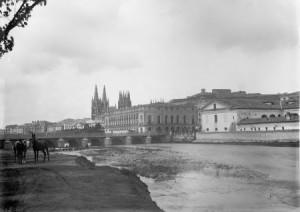 Vista de Burgos a principios del siglo pasado, fuente: