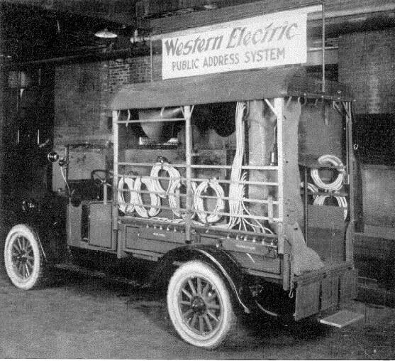 Camión de servicio de megafonía móvil Western Electric