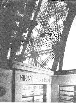 Entrada a la estación de televisión de la torre Eiffel de una potencia de 30 kW.