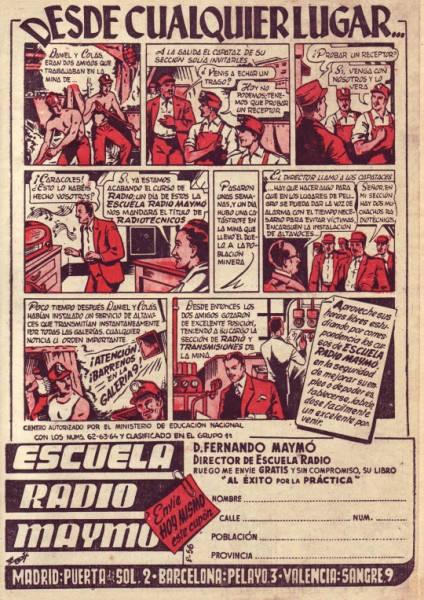 Anuncio de Radio Maymó. Revista Pulgarcito (Almanaque 1957 - Editorial Brugera)