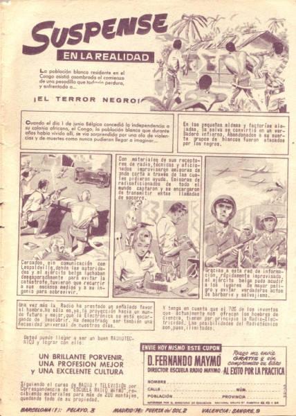 Anuncio de Radio Maymó. Revista Pulgarcito (Almanaque 1961 - Editorial Brugera)