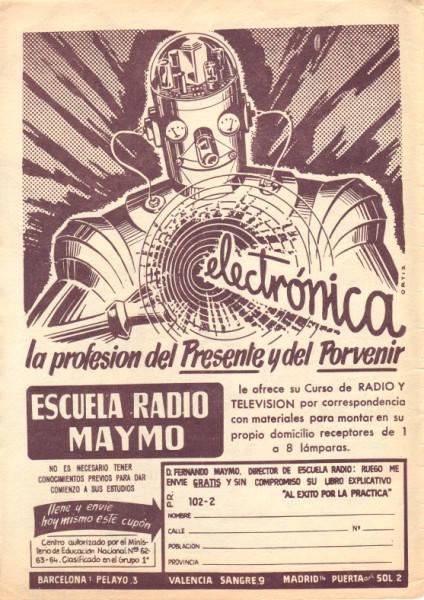 Anuncio de Radio Maymó. Revista Pulgarcito (Extra de Navidad 1961 - Editorial Brugera)