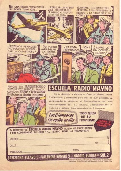 Anuncio de Radio Maymó. Revista Pulgarcito (Extra de vacaciones 1959 - Editorial Brugera)