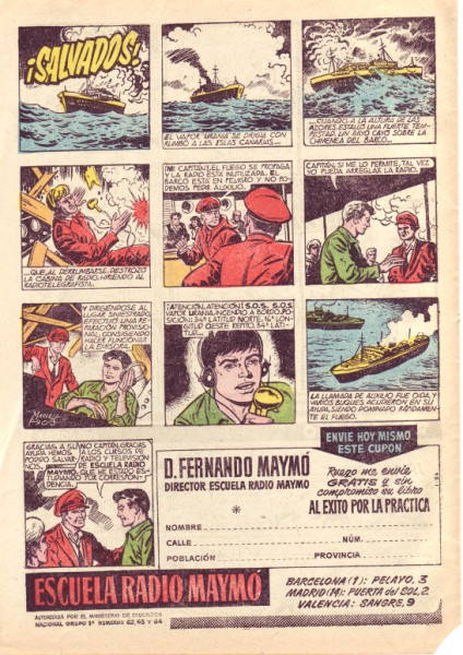Anuncio de Radio Maymó. Revista Pulgarcito (Extra de Vacaciones 1960 - Editorial Brugera)