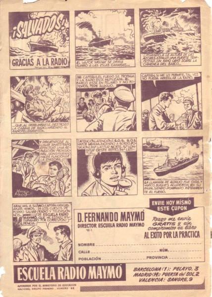 Anuncio de Radio Maymó. Revista Pulgarcito (Extra de vacaciones 1961 - Editorial Brugera)