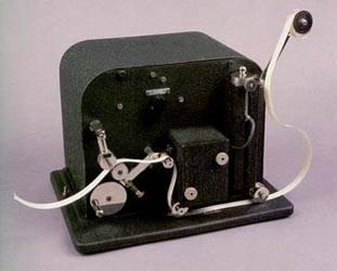 Uno de los últimos aparatos receptores de Morse, basados en el sistema sifón.