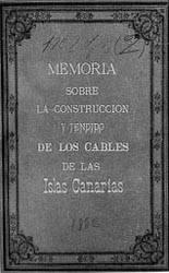 Memoria para instalación de cables submarinos en las Islas Canarias.