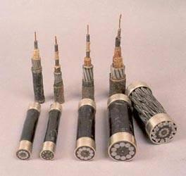 Muestras de cables submarinos telegráficos. Utilizados en España.