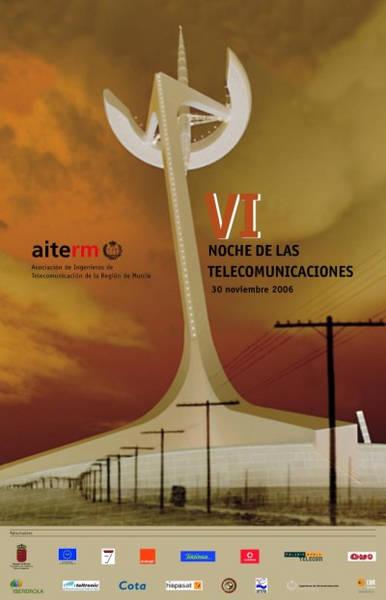 Cartel de la VI Noche de las Telecomunicaciones de Murcia en 2006