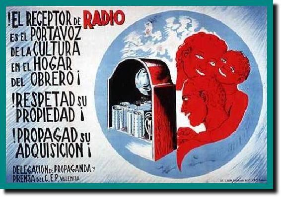 Cartel propagandístico de la radio durante la guerra civil