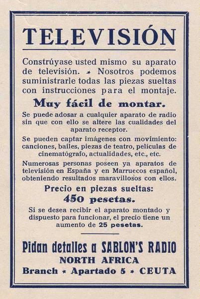 Construya su propia TV (Radiosport, año XII, nº 107, página 34. 28 de febrero de 1935. Archivo Histórico EA4DO)