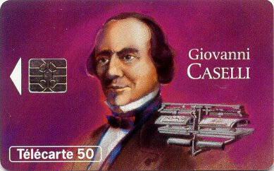 Tarjeta conmemorativa de Giovanni Caselli.   Télécarte 50