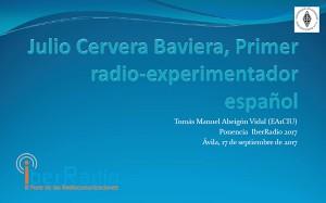 Julio Cervera Baviera, primer radio-experimentador español