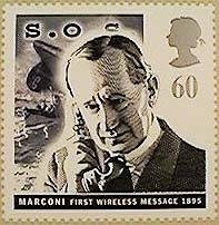 Primera comunicación inalámbrica, 1895. Inglaterra