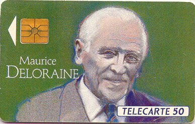 Tarjeta conmemorativa de Maurice Deloraine.   Télécarte 50