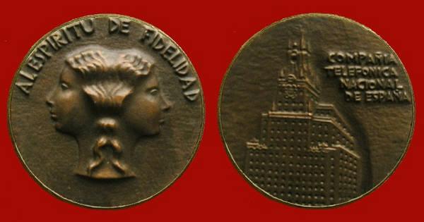 Medalla a los Empleados de Telefónica por sus años de servicio