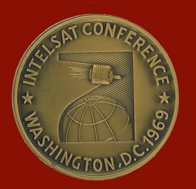 Moneda de la Conferencia de INTELSAT celebrada en Washington en 1969