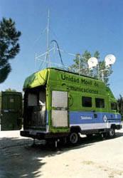 Unidad móvil con radioenlaces digitales.