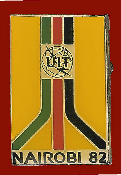 Pin conmemorativo Conferencia Plenipotenciarios de la UIT. Nairobi 1982