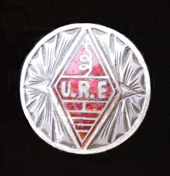 Botón de Plata de la Unión de Radioaficionados Españoles otorgado a EA4-599 (1962)