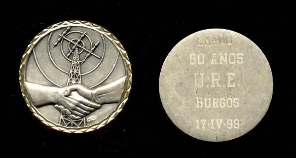Medalla de los 50 años de la Unión de Radioaficionados Españoles, URE Burgos, a EA4DO