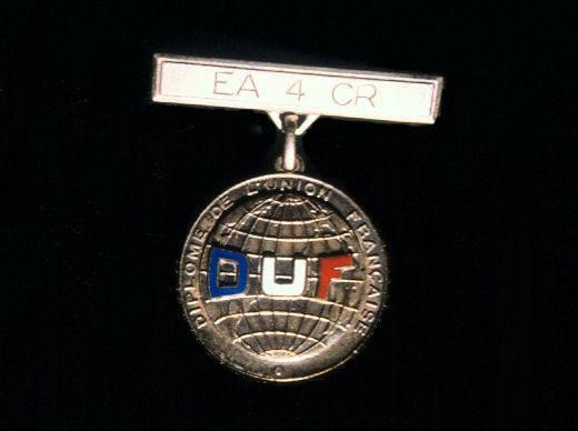 Medalla de Oro Diploma Unión Francesa, a EA4CR