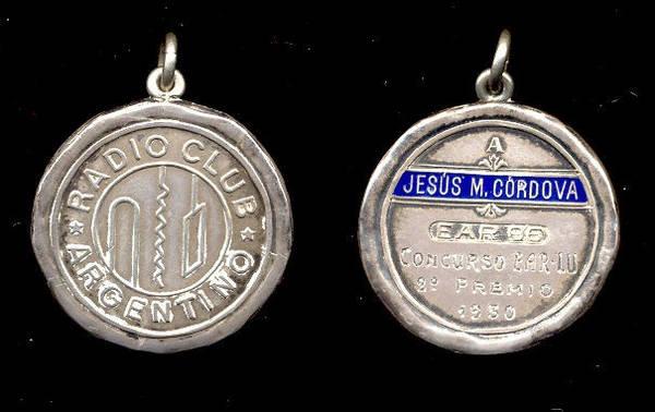 Medalla de Plata del Radio Club Argentino (1930), a EAR-96