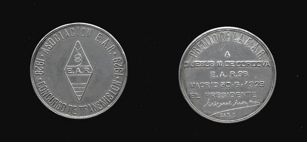 Medalla de Plata del Consurso de Transmisión de la Asociación EAR 1929 a EAR-96