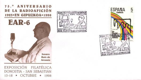 Sobre conmemorativo del Matellos dedicado a EAR-6 (1998)