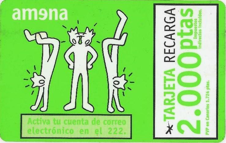 Tarjeta de Amena. 2.000 pts.
