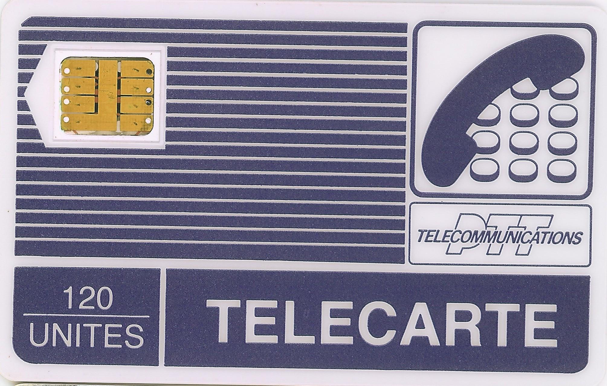 Tarjeta Telecarte. 120 Unites