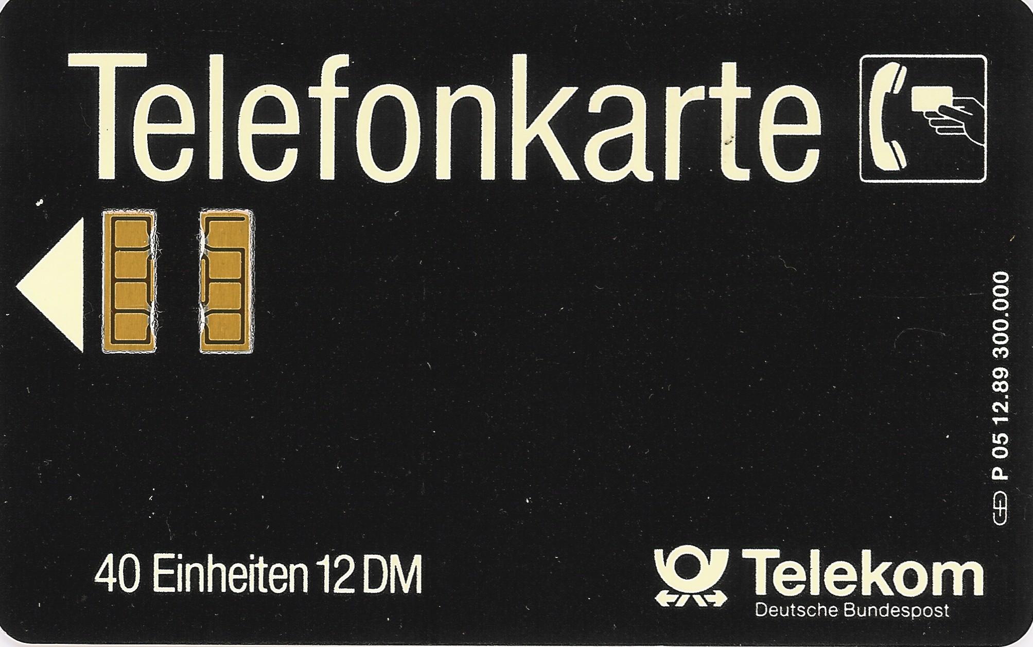 Tarjeta Telefonkarte. Deutsche Telekom